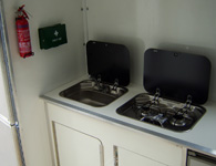 horsebox sink and cooker