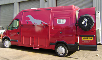 red master horsebox exterior