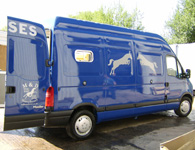 Blue master horsebox